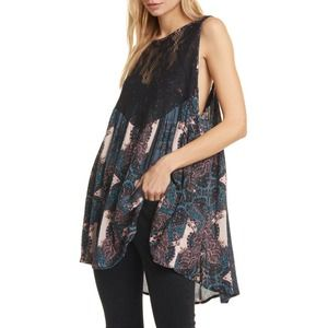 FREE PEOPLE Count Me In Trapeze Mini Dress SM NWT